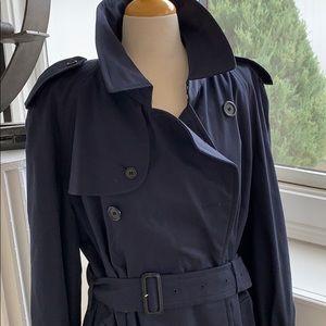 Authentic Burberry's Navy Men's Trench coat 52 L